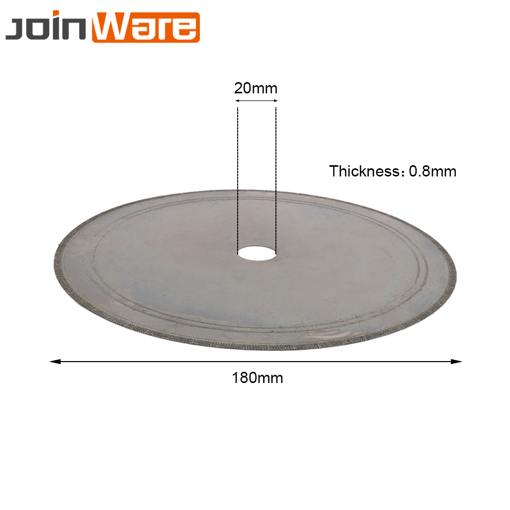 180MM Diamond Lapidary Saws Trim Blade Super Thin Straight Edge Wet Cutting Disc Jewellery Jade Tool 20MM 4/5