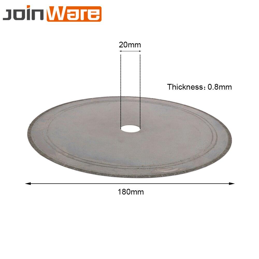 180MM Diamond Lapidary Saws Trim Blade Super Thin Straight Edge Wet Cutting Disc Jewellery Jade Tool 20MM 4/5