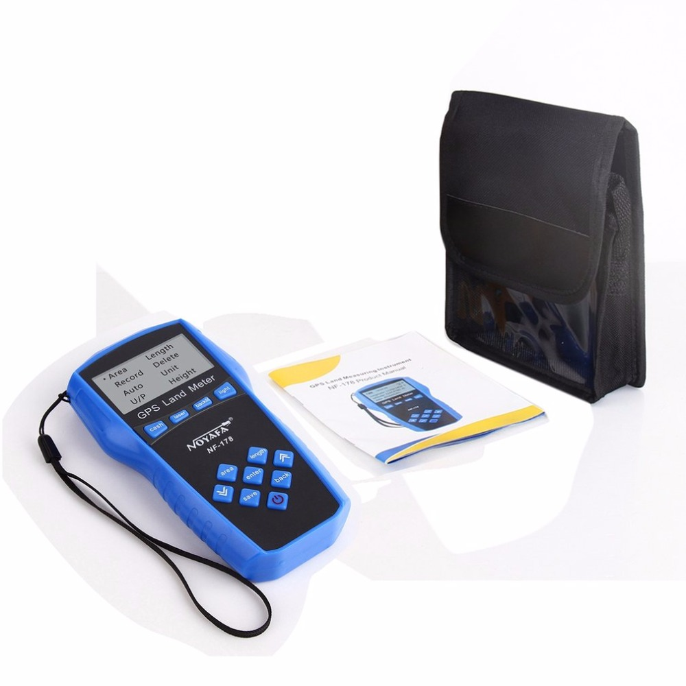 Noyafa NF-178 Portable Handheld Land Meter LCD Screen Display GPS Test Devices Land Measuring Instrument With Battery gps survey equipment use for farm land surveying and mapping area measurement display measuring value figure track noyafa nf 198