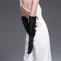 Women S Long Leather MITTENS Winter 50cm Women S GloveS Arm Sleeve 2pairs One Lot