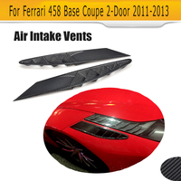 Carbon Fiber Side Air Intake Vents Mesh Covers Case For Ferrari 458 Base Coupe 2 Door 2011 2012 2013 Car Accessories 2PCS