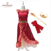MUABABY Girls Elena Dress Summer Sleeveless Cartoon Elena Of Avalor Princess Birthday Party Dresses Girls Fantasy