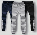 Fashion Autumn pant for men stripe pluz Size sweatpants Fall Wear harem male dress Stylish one piece sportwear solid cotton 3