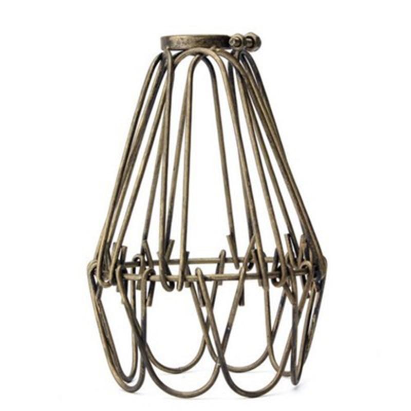 Retro Iron Wire Bulb Cage Metal Lamp Guard Vintage Lights Lampshade UniversalRetro Iron Wire Bulb Cage Metal Lamp Guard Vintage Lights Lampshade Universal