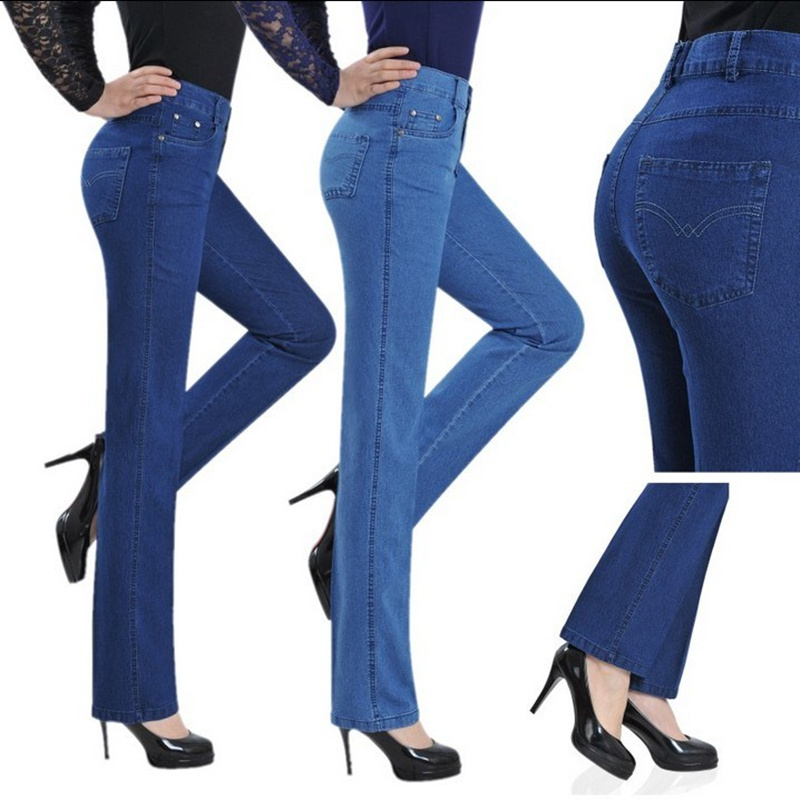 New   Jeans   for Women black   Jeans   High Waist   Jeans   Woman washed denim Straight Leg Pants Spring Trousers Autumn Boyfriend Pants