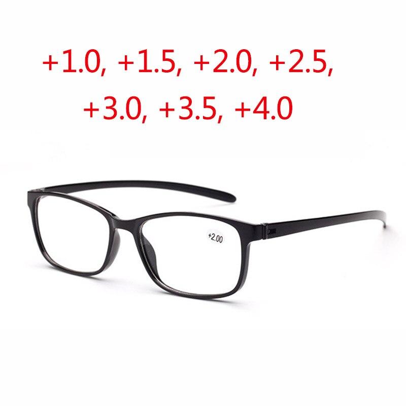 2017 Hot Very light Optical Reading Glasses men women Imitate TR90 frames Function glasses 3 color oculos de grau +1.0 +2.5 +4.0