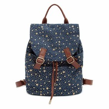 Мода Galaxy Star Женщины Холст Рюкзак Ранцы Мешок Школы Для Девочек Подростков Случайные Дорожные сумки Рюкзак