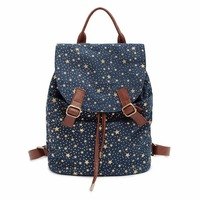 Fashion Galaxy Star Women Canvas Backpack Schoolbags School Bag For Girl Teenagers Casual Travel Bags Rucksack