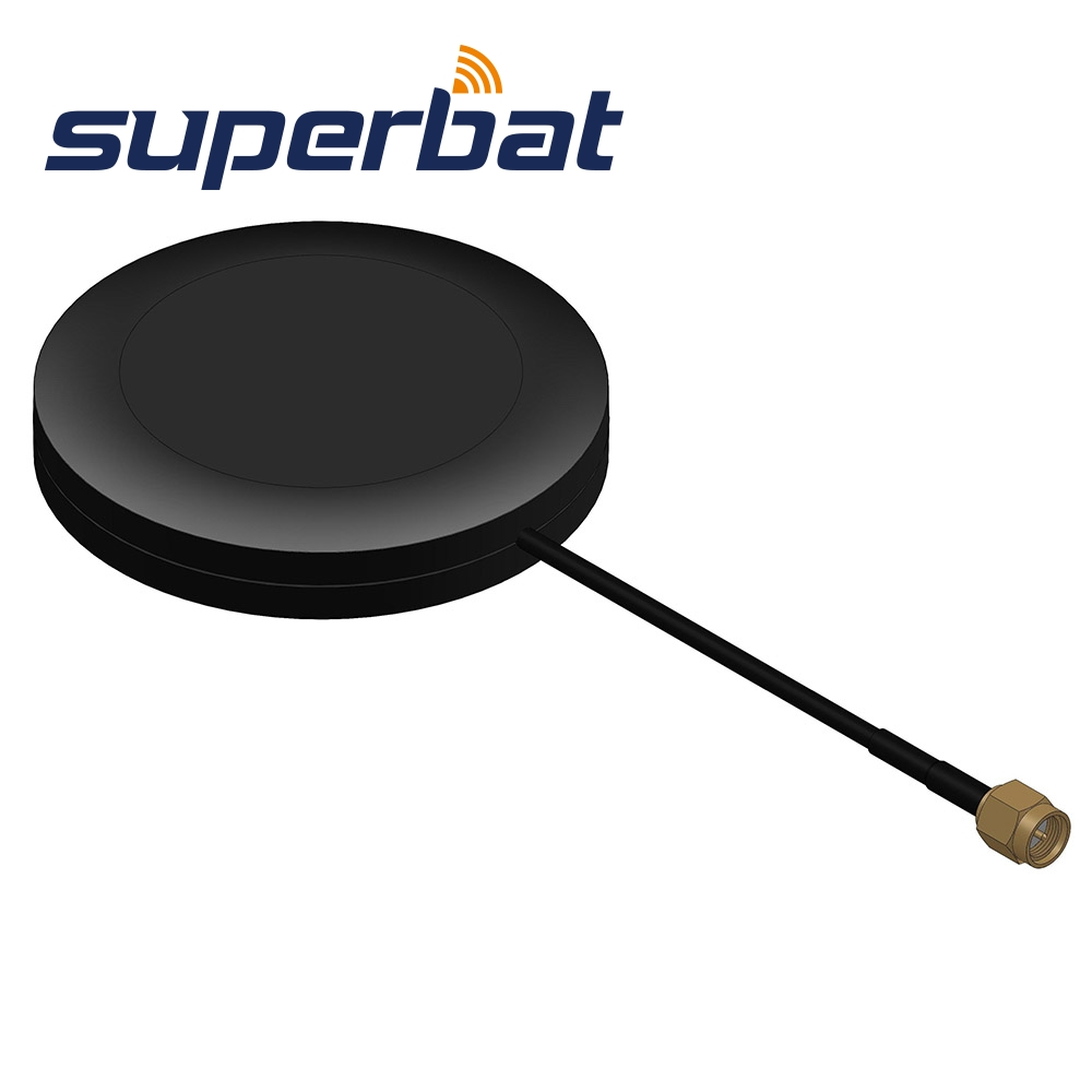 Superbat 4G LTE Magnetic Mount Omni-directional SMA Male Antenna for MegaFon 4G LTE Router Cell Phone Signal Booster