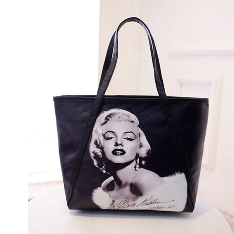 2016 New Fashion Women's Large Capacity Bag 3D Print Marilyn Monroe - Handtassen - Foto 3