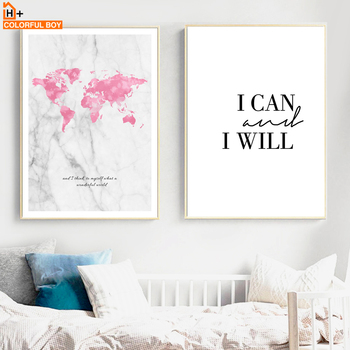 Colorfulboy world map quotes watercolor wall art canvas painting colorfulboy world map quotes watercolor wall art canvas painting nordic posters and prints canvas pictures for living room decor gumiabroncs Gallery