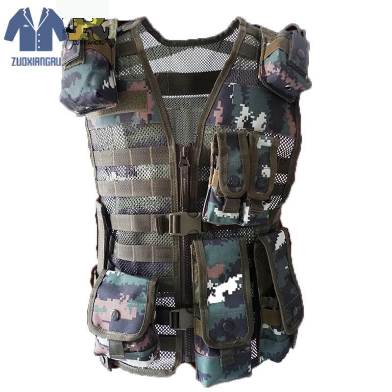Vêtements pour hommes tactique CS activités classées hommes Camouflage armée gilet avec multi-poche taille unique gilet régulier hommes