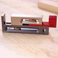 Aluminum Alloy Saw Slot Regulator With Box Slot Regulators Miter Saw Table Saw Slot Adjuster Woodworking Mortise Tenon Tools