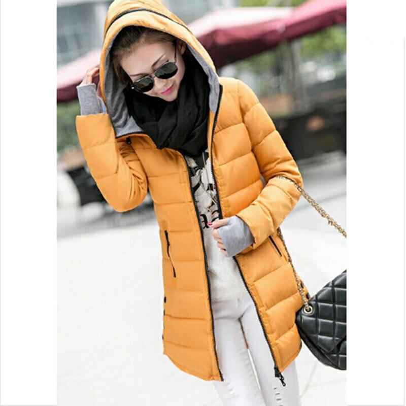 4f2c11aedd1 Ailooge chaqueta Cotton-padded de las mujeres 2017 invierno medio-largo  Abrigos de plumas algodón más chaqueta de tamaño femenino delgadas  chaquetas y ...