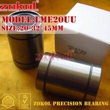 ZOKOL LM20 UU LME20 UU rodamiento LME20UU europeo estándar movimiento lineal rodamiento 20*32*45mm