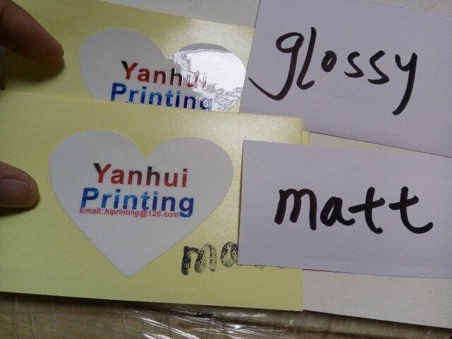 Six vinyl waterproof sticker printing custom glossy laminated