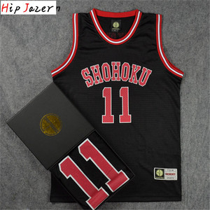 HipJazer Slam dunk Cosplay Shohoku 14Hisashi Mitsui 11# Rukawa Kaede Basketball Jersey Sport Wear Basketball hiphop jerseys(China)