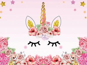 Image 5 - Unicorno Decorazioni della Festa di Compleanno Per Bambini Unicorn Partito Sfondo Arcobaleno Fotografia di Sfondo Del Bambino Della Decorazione Doccia HL39