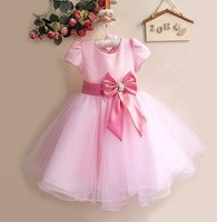 Newborn Baby Girl Kids Fashion Clothes Toddler Infant Cute Big Bowknot Princess Dress Spring Summer Bow Dresses Outfit 2 8Years