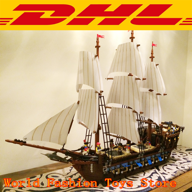 IN STOCK Pirates series The Imperial Flagship 22001 Model Building Blocks Compatible 10210 Pirate Ship Toys for children lepin 22001 imperial warships 16006 black pearl ship model building blocks for children pirates series toys clone 10210 4184