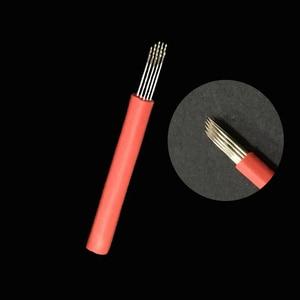 Image 4 - 20 ピース Laminas Tebori Microblading 円形ベベル R 19 ピンラウンドライナーブレード 19RL タトゥー針眉毛