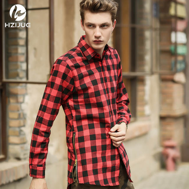b2f0f7681 placeholder HZIJUE 2018 camisas dos homens da moda hip hop streetwear  urbano roupas hiphop roupas masculinas camisa