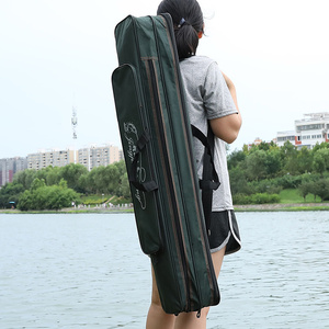 Image 1 - 2019 New Fishing Bags 2 Layer Multifunctional Fishing Bag  Rod Reel Lure nylon Pole Storage Carp Fishing Tackle Pouch XA40G