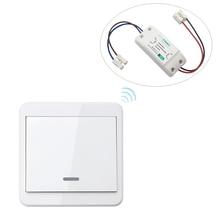 433MHz Remote Light Switch Kits 220V Wireless Receiver Lamp Control w/ 86 Wall Panel Remote Transmitter Smart Home Gadget KTNNKG цена в Москве и Питере