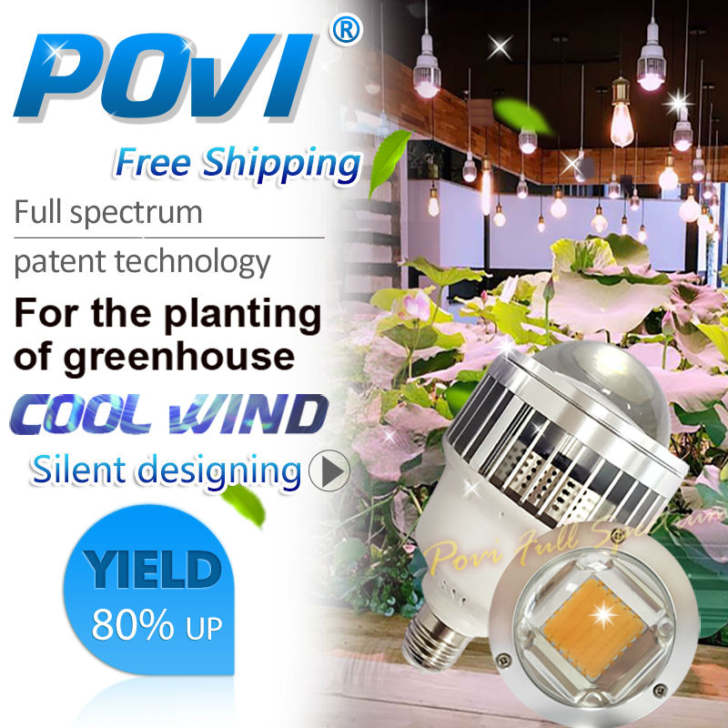 POVI  30w 50w LED grow Lamp True Full Spectrum Led Hydroponics Grow Light  for Flower Plant,Herbs,Vegetable/greenhouse