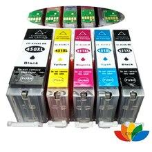 5 renk Uyumlu PGI 450 CLI 451 Mürekkep canon için kartuş PIXMA IP7240 MG5440 MG6340 MX924 MG7140 MG6440 MG5540 Yazıcılar