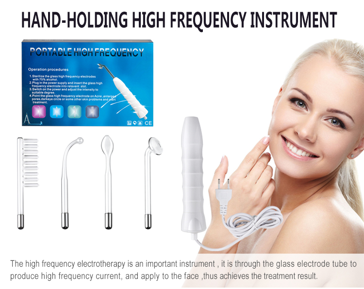 110 240V New Best Selling Hot sale Electric Galvanic High Frequency Ray Derma Beauty Comb Wand