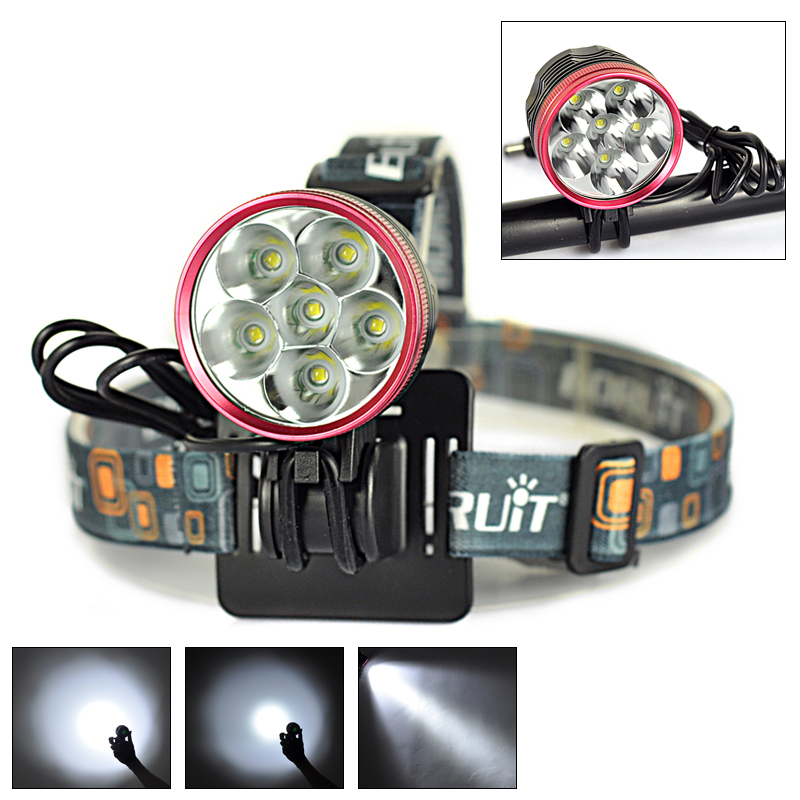 10000Lm 6x XM L T6 LED Front Bicycle Bike light Headlamp 3Modes Waterproof Cycling Head Light