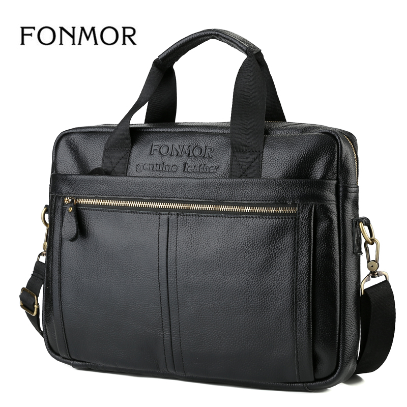 Famous Brand Men Briefcase Travel Shoulder Bags Genuine Leather Messenger Bag Men's Cowhide Business Briefcases Male Hand bags padieoe men s genuine leather briefcase famous brand business cowhide leather men messenger bag casual handbags shoulder bags