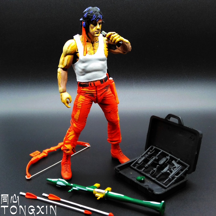 Rambo Stallone Rambo Film 7-inch Model Can Be Moving Even Toys H33 stealth edition predator alien ganso elders lone wolf mask film may be moving even hand model h28