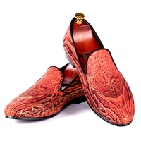 Harpelunde Red Leopard Printed Men Dress Shoes Top Selling Design Wedding Shoes Loafers Size 7 14