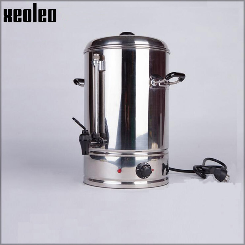 Xeoleo Commercial Coffee tea boiler 6/10/15L Stainless steel Pop Coffee maker Electric Coffee machine Water machine Water boiler 220v commercial smart cafe machine hong kong style black tea machine stainless steel american coffee machine tea water machine