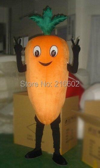 Морковь маскот костюмы овощи модный маскот костюмы для косплея