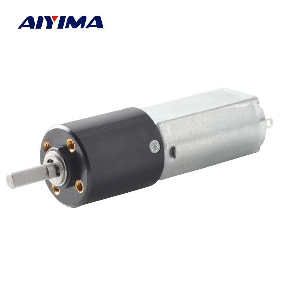Aiyima 5V Diameter 16mm DC Geared Motor Miniature Plastic DC Brushed Planetary Reduction Gearbox 70rpm high quality 5n m 42 42 119 7mm brushless dc motor with planetary gearbox reduction ratio 104 8