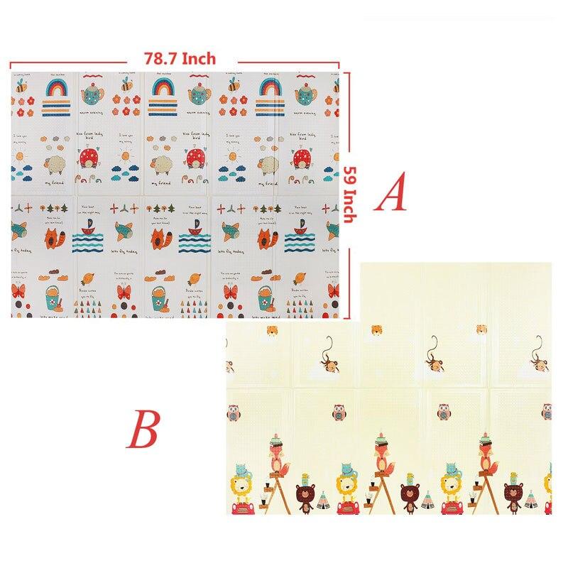 HTB1798QayHrK1Rjy0Flq6AsaFXaC XPE Baby Play Mat Toys For Children's Mat Kids Rug Playmat Developing Mat Baby Room Crawling Pad Folding Mat Baby Carpet