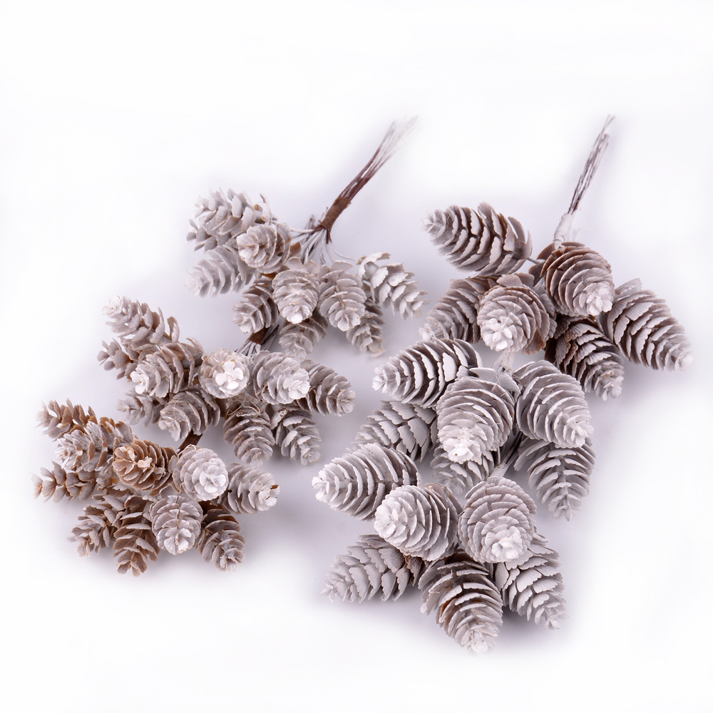 Ingenious Pine Cone 6-10pcs Artificial Flower Pineapple Artificial Grass Christmas Wedding Home Decoration Diy Scrapbook Gift Box Pure Whiteness Dog Collars & Leads