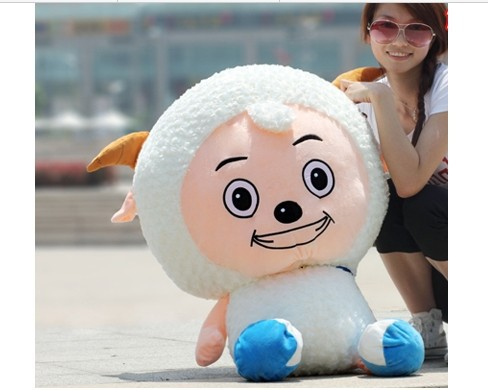lovely plush goat toy the cartoon goat large stuffed toy huge pleasant goat about 100cm