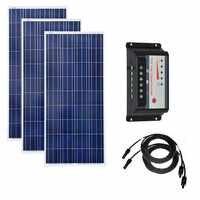150W 12V panneau solaire 3 pièces chargeur Portable contrôleur de Charge solaire 12 v/24 v 30A PV câble MarineYahct bateau caravane voiture Camping