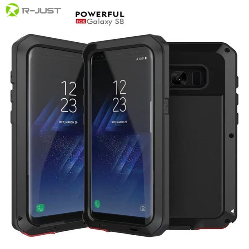 bilder für S8 Luxus Doom rüstung Dirt Shock proof Metall Aluminium handytasche fall für Samsung Galaxy S8 S7 S6 rand plus note 3 4 5 fall