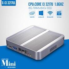 Fanless Design I3 3217U 8G RAM+64G SSD+WIFI Mini Desktop Mini PC Computador Tablet Computer Support Win 7 XP Ubuntu