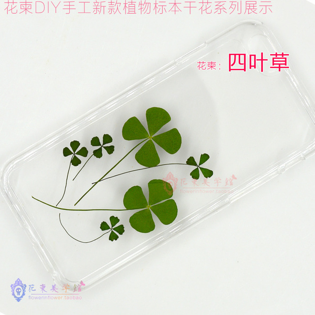 Flower Invitation Four Leaf Clover Flower Diy Handmade Dried Flowers
