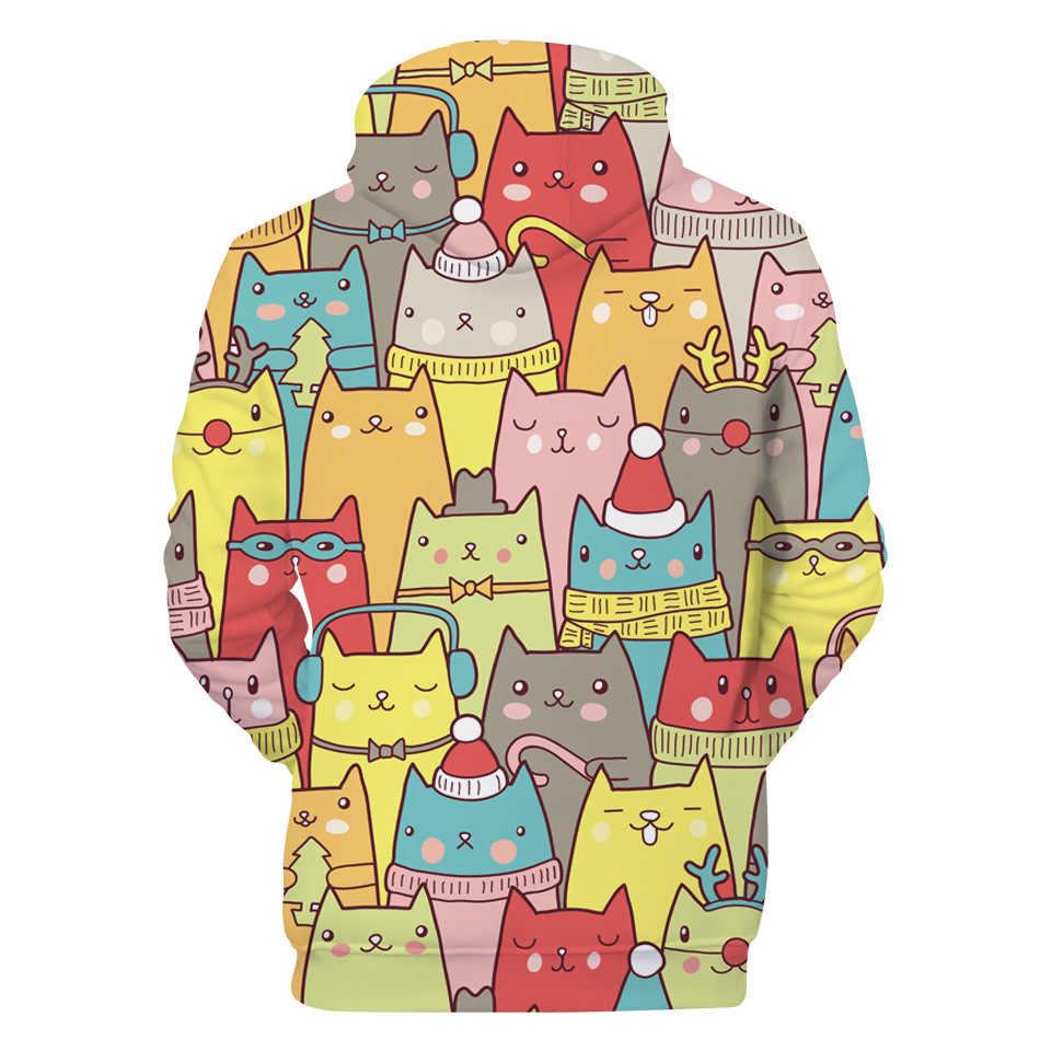 2018 новая корейская мода Харадзюку 3D Горячие толстовки с капюшоном для женщин мультфильм печатных топы пуловеры KPOP одежда Moletom