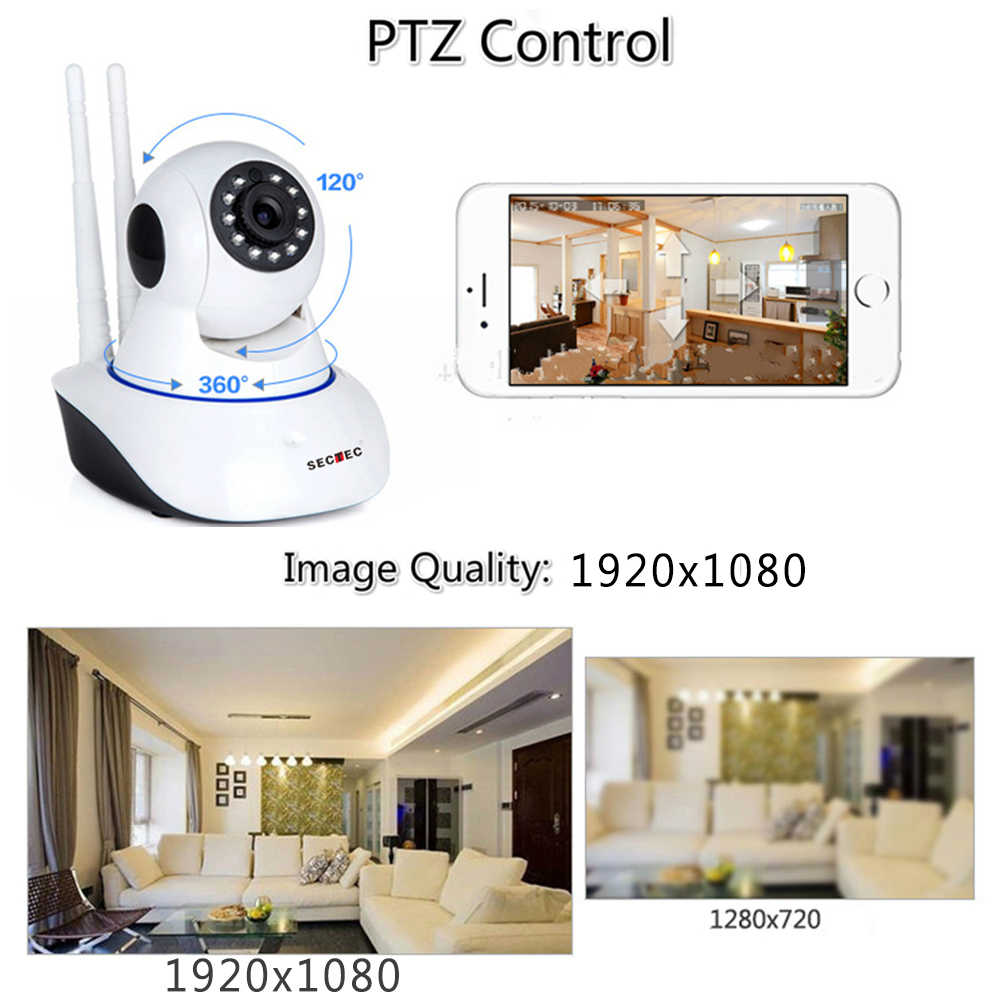 Cctv Home Sectec Hd 1080p Cloud Wireless Ip Camera Home Security Surveillance Network Cctv Camera 2mp Wifi Cam Night Vision Baby Monitor