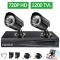 Defeway HD Sistema de CCTV 4CH 1080 P Saída HDMI 720 P DVR 2 PCS 1200TVL Outdoor Night Vision IR Câmera de Segurança de Vigilância Em Casa Kit