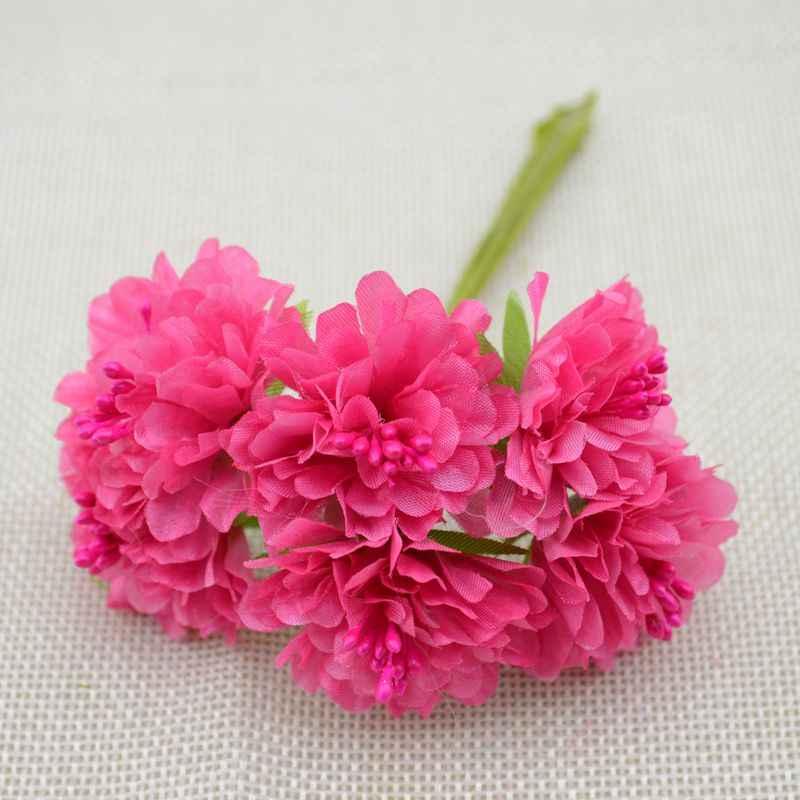 6 pcs/lot livraison gratuite soie artificielle étamine bourgeon Bouquet fleur pour maison jardin mariage voiture corsage décoration artisanat plantes