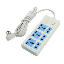 250VAC 10A EU US Multi Type Socket Power Strip 6 Way Splitter 2 8M 9 2Ft